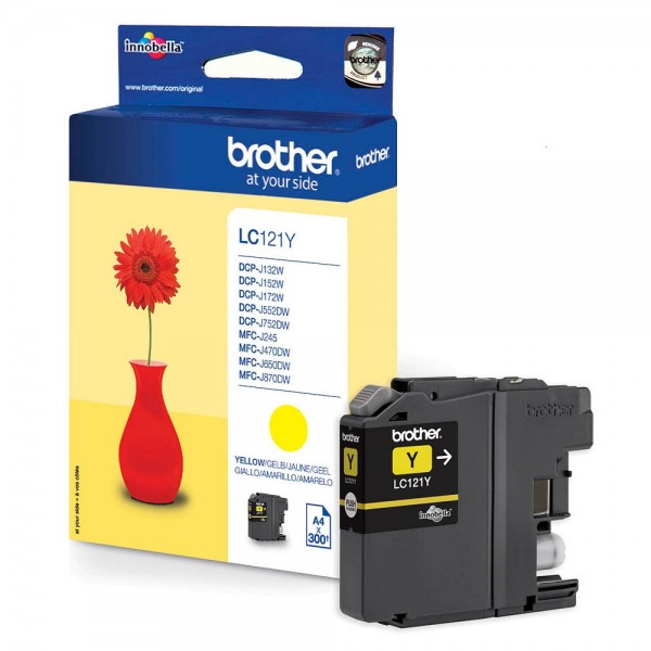 Brother LC-121Y Tinte Yellow