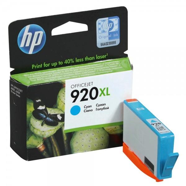 HP 920 XL / CD972AE Tinte Cyan