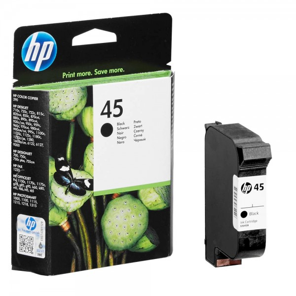 HP 45 / 51645AE Tinte Black