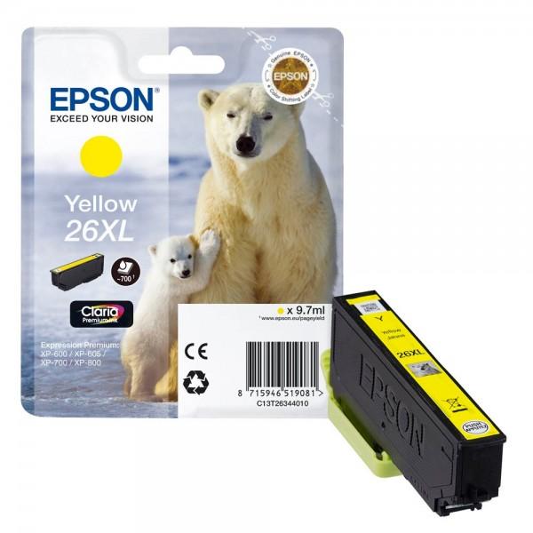 Epson 26 XL / C13T26344010 Tinte Yellow