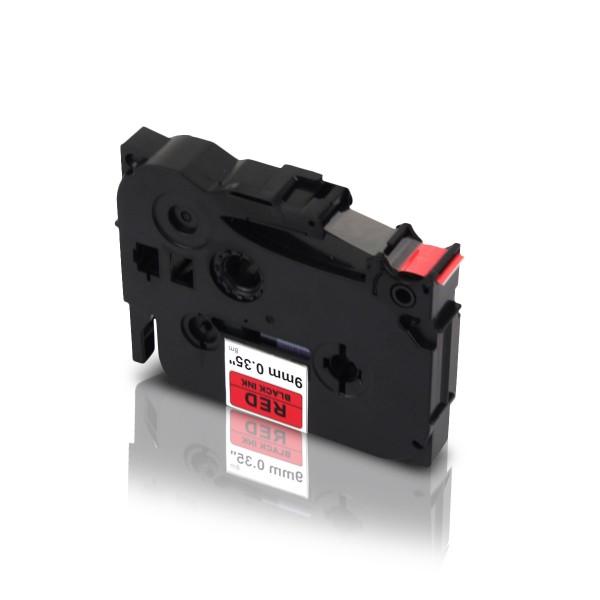 Kompatibel zu Brother TZE-421 P-Touch Schriftband 9mm Schwarz auf Rot
