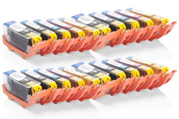 Kompatibel zu Canon PGI-520 / CLI-521 Tinten Multipack CMYK (20er Set)