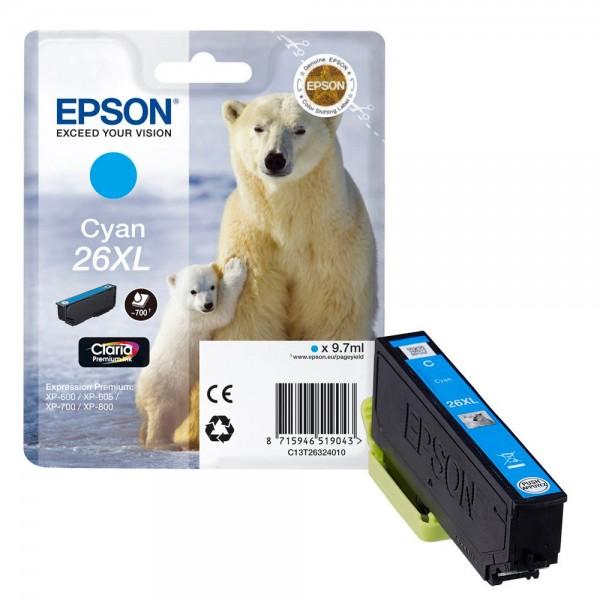 Epson 26 XL / C13T26324010 Tinte Cyan