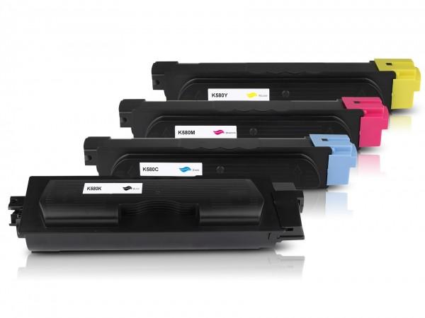 Kompatibel zu Kyocera TK-580 Toner Multipack CMYK (4er Set)