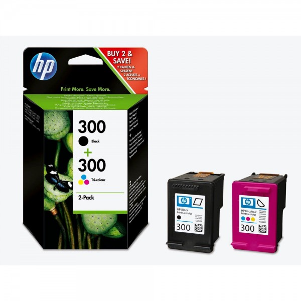 HP 300 / CN637EE Tinten Multipack (1x Black / 1x Color)