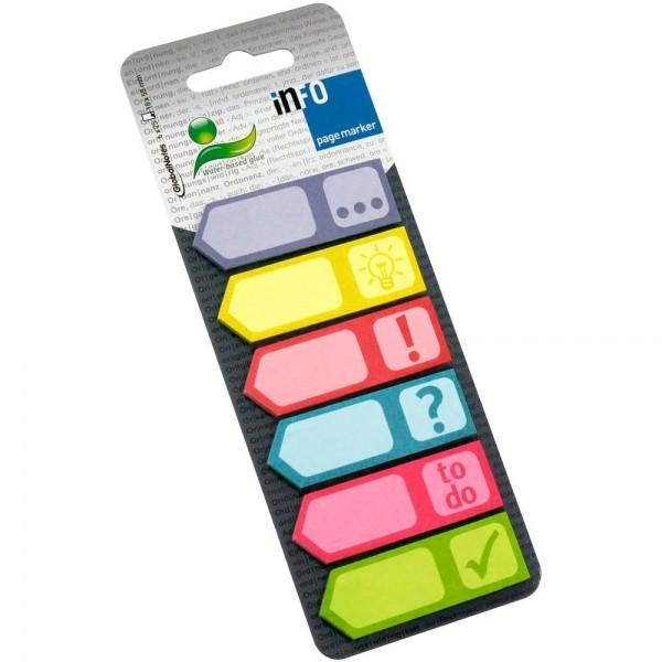 Info 5672-90 Haftmarker Symbole mehrfarbig (6 x 25 Streifen)