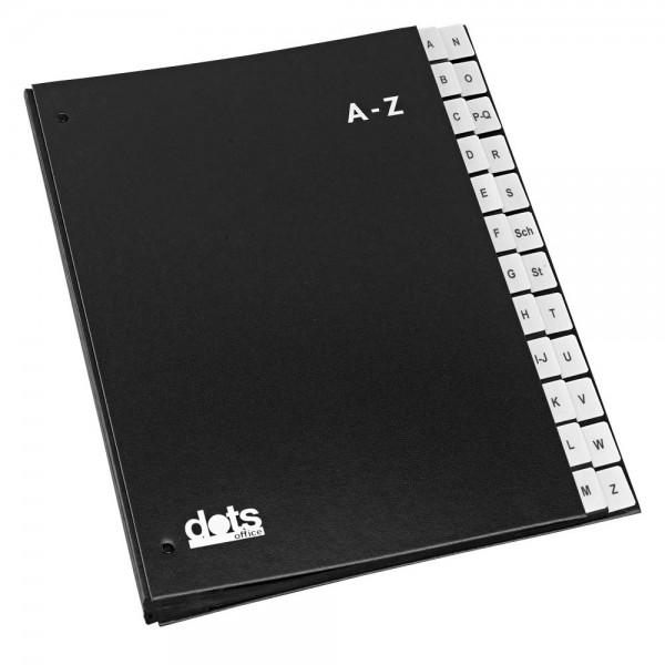 Dots Pultordner schwarz A-Z DIN A4 (24 Fächer)