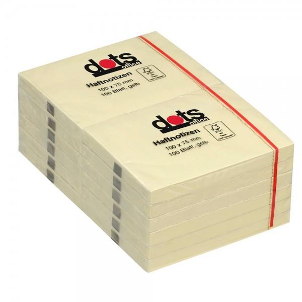 Dots Haftnotiz 100 x 75mm gelb (12er Pack)
