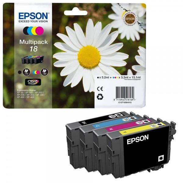 Epson 18 / C13T18064012 Tinten Multipack CMYK (4er Set)