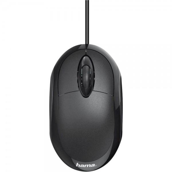 Hama MC-100 USB-Maus schwarz