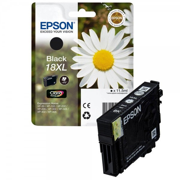 Epson 18 XL / C13T18114012 Tinte Black