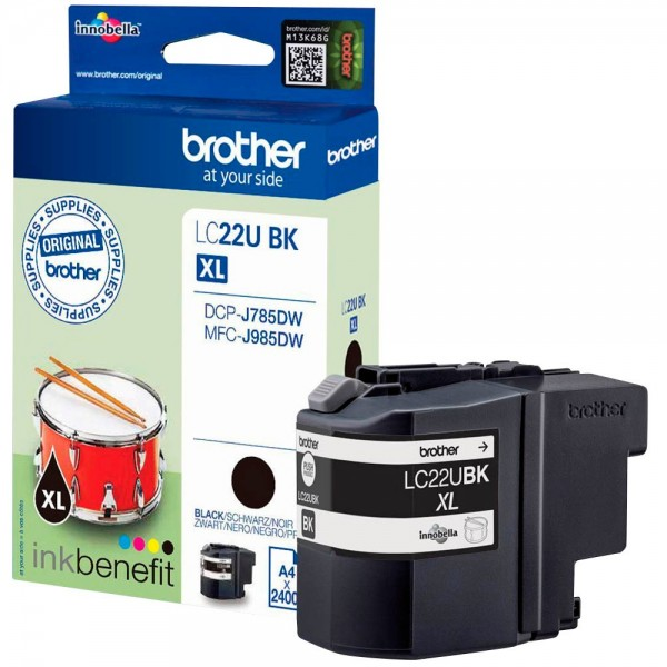 Brother LC-22UBK Tinte Black