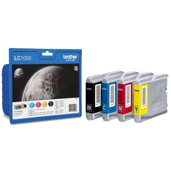 Brother LC-1000 VALBPDR Tinten Multipack CMYK (4er Set)