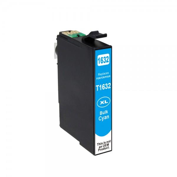 Kompatibel zu Epson 16 XL / C13T16324010 Tinte Cyan (BULK)