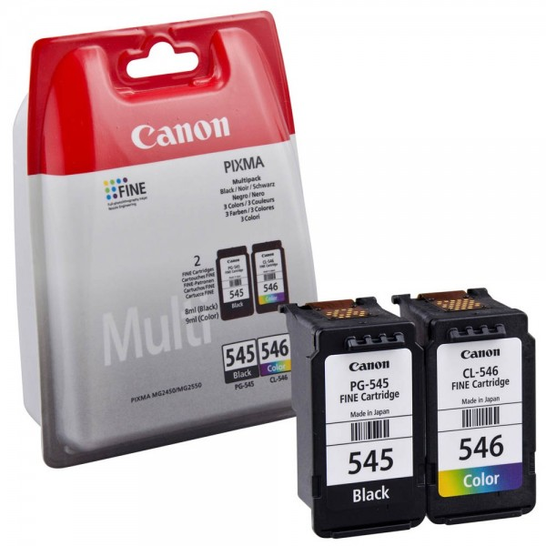 Canon PG-545 / CL-546 / 8287B005 Tinten Multipack (1x Black / 1x Color)
