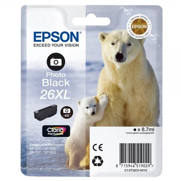 Epson 26 XL / C13T26314010 Tinte Photo-Black