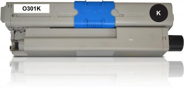 Kompatibel zu OKI C301 / 44973536 Toner Black