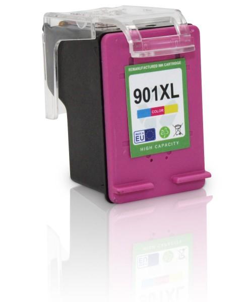 Kompatibel zu HP 901 XL / CC656AE Tinte Color mit Füllstandsanzeige (EU)