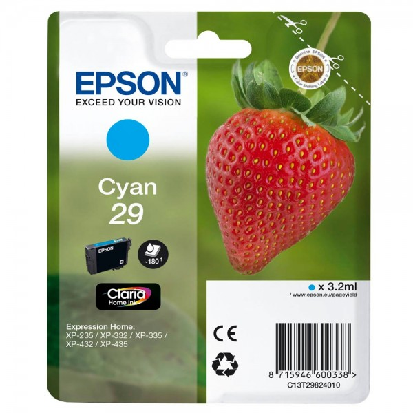 Epson 29 / C13T29824012 Tinte Cyan