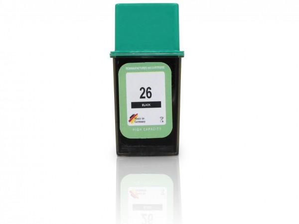 Kompatibel zu HP 26 / 51626AE Tinte Black