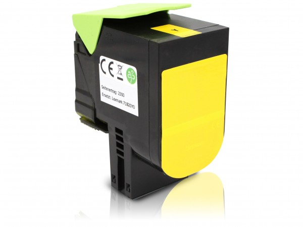 Rebuilt zu Lexmark 71B2HY0 Toner Yellow