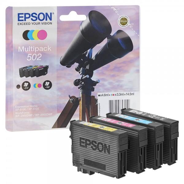 Epson 502 / C13T02V64010 Tinten Multipack CMYK (4er Set)