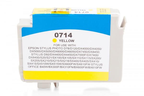 Kompatibel zu Epson T0714 / C13T07144010 Tinte Yellow