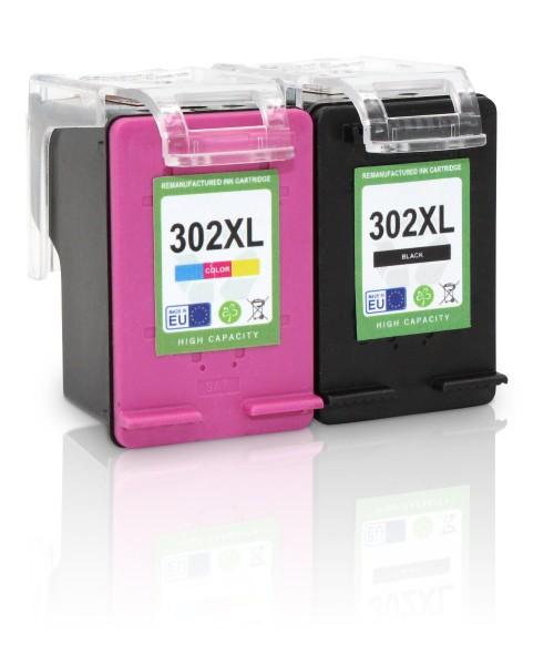 Kompatibel zu HP 302 XL / X4D37AE Tinten Multipack (1x Black / 1x Color) (EU)