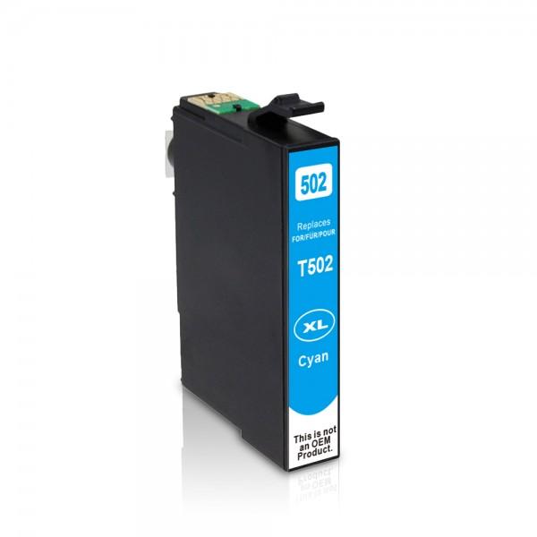 Kompatibel zu Epson 502 XL / C13T02W24010 Tinte Cyan