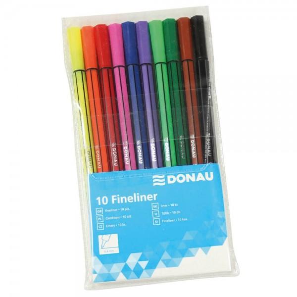 Donau Fineliner 0,4 mm farbsortiert (10er Set)