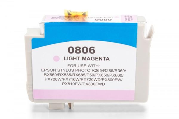 Kompatibel zu Epson T0806 / C13T08064010 Tinte Light Magenta