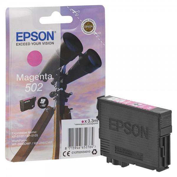Epson 502 / C13T02V34010 Tinte Magenta