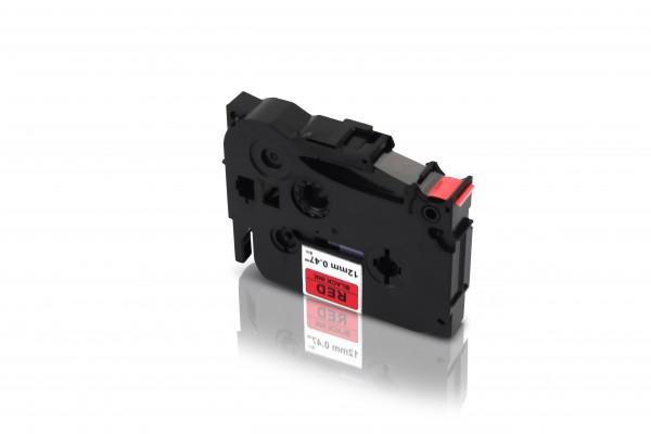 Kompatibel zu Brother TZE-431 P-Touch Schriftband 12mm Schwarz auf Rot