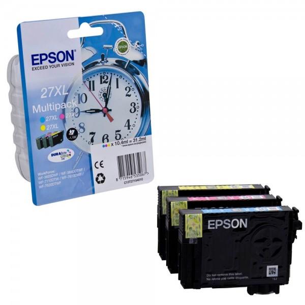 Epson 27 XL / C13T27154012 Tinten Multipack CMY (3er Set)