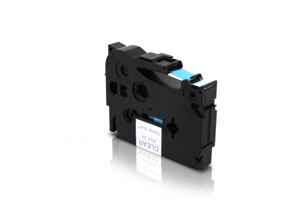 Kompatibel zu Brother TZE-133 P-Touch Schriftband 12mm Blau auf Transparent
