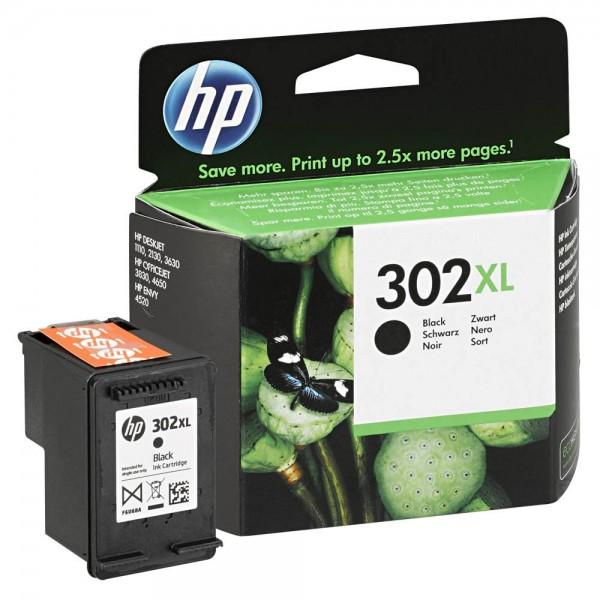 HP 302 XL / F6U68A Tinte Black