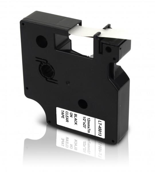 Kompatibel zu Dymo D1 45013 / S0720530 Schriftband 12mm Schwarz auf Weiß