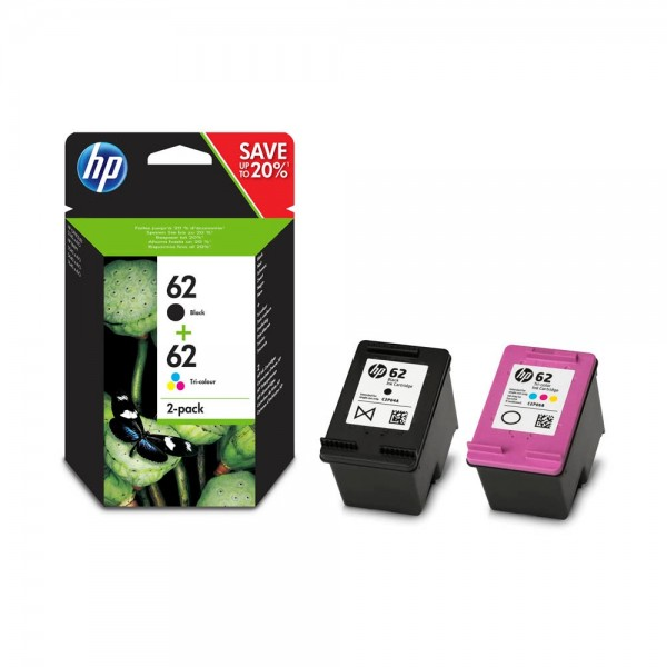 HP 62 / N9J71AE Tinten Multipack (1x Black / 1x Color)