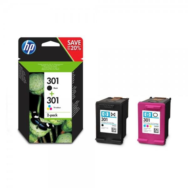 HP 301 / N9J72AE Tinten Multipack (1x Black / 1x Color)