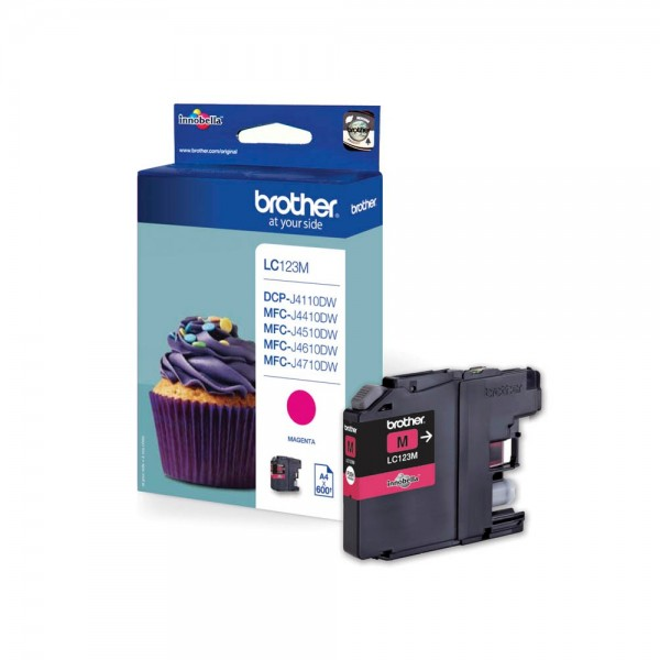 Brother LC-123M Tinte Magenta