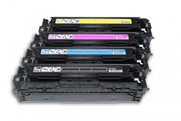 Kompatibel zu HP CB540A CB541A CB542A CB543A / 125A Toner Multipack CMYK (4er Set)