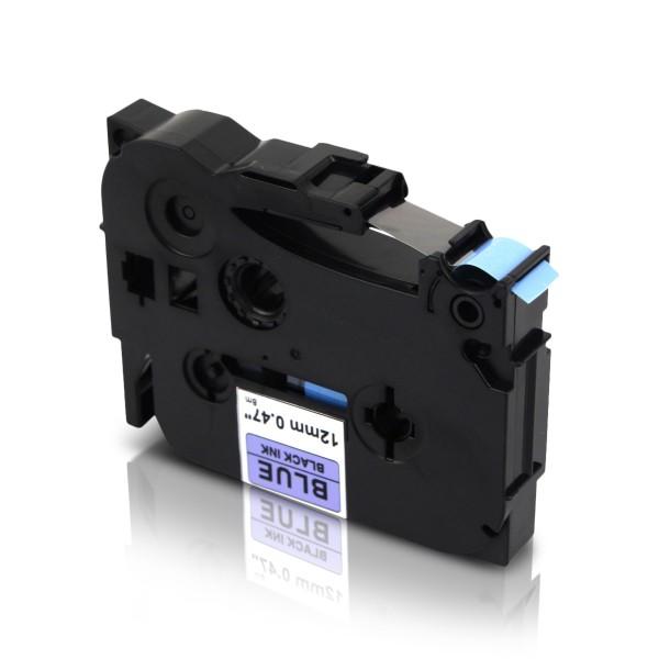Kompatibel zu Brother TZE-531 P-Touch Schriftband 12mm Schwarz auf Blau