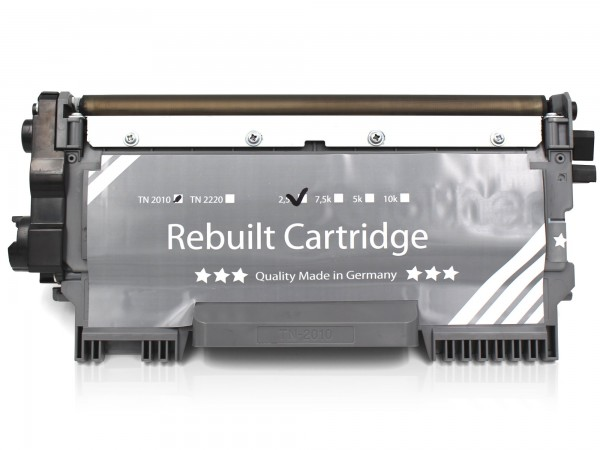 Rebuilt zu Brother TN-2010 Toner Black (DE)