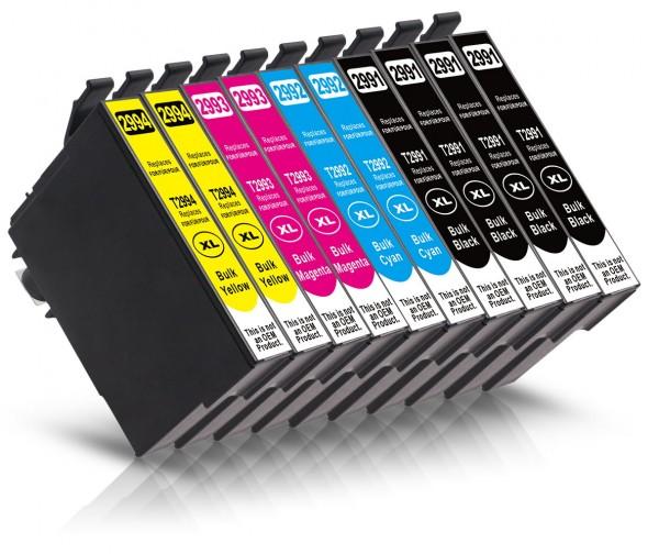 Kompatibel zu Epson 29 XL Tinten Multipack CMYK (10er Set)