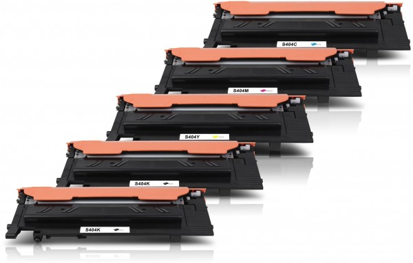Kompatibel zu Samsung CLT-P404C / SU365A Toner Multipack CMYK (5er Set)
