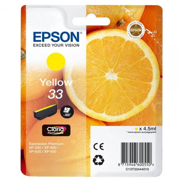 Epson 33 / C13T33444012 Tinte Yellow