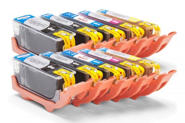 Kompatibel zu Canon PGI-525 / CLI-526 Tinten Multipack CMYK (10er Set)