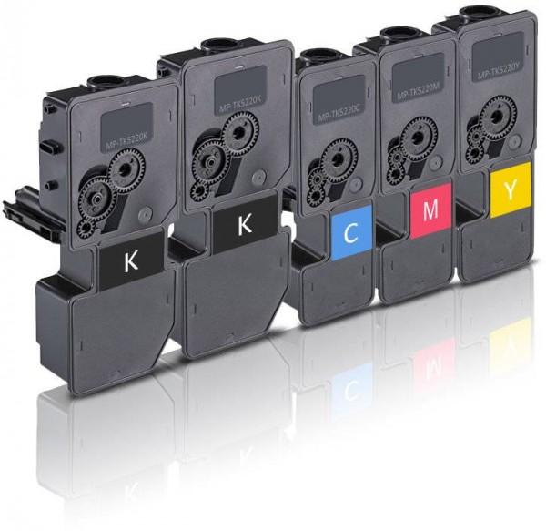 Kompatibel zu Kyocera TK-5220 Toner Multipack CMYK (5er Set)