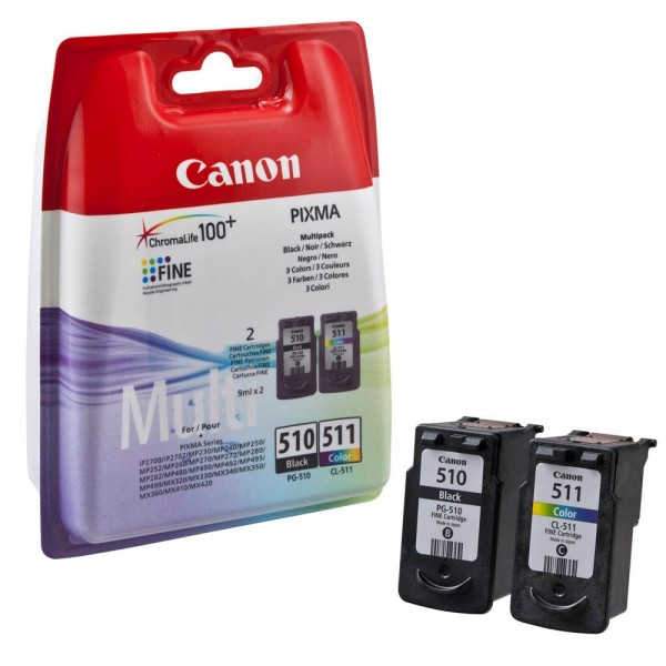 Canon PG-510 / CL-511 / 2970B010 Tinten Multipack (1x Black / 1x Color)