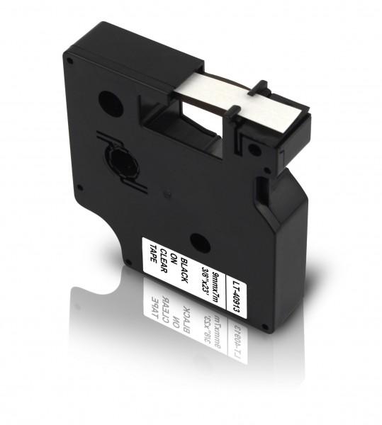 Kompatibel zu Dymo D1 40913 / S0720680 Schriftband 9mm Schwarz auf Weiß